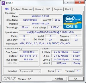 cpuz running 300x289 intel Core™ i3 2100 Processor