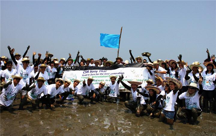 group โซนี่ไทยขานรับนโยบายรักษ์สิ่งแวดล้อม Road to Zero ชวนพนักงานร่วมใจฟื้นฟูอนุรักษ์ป่าชายเลน
