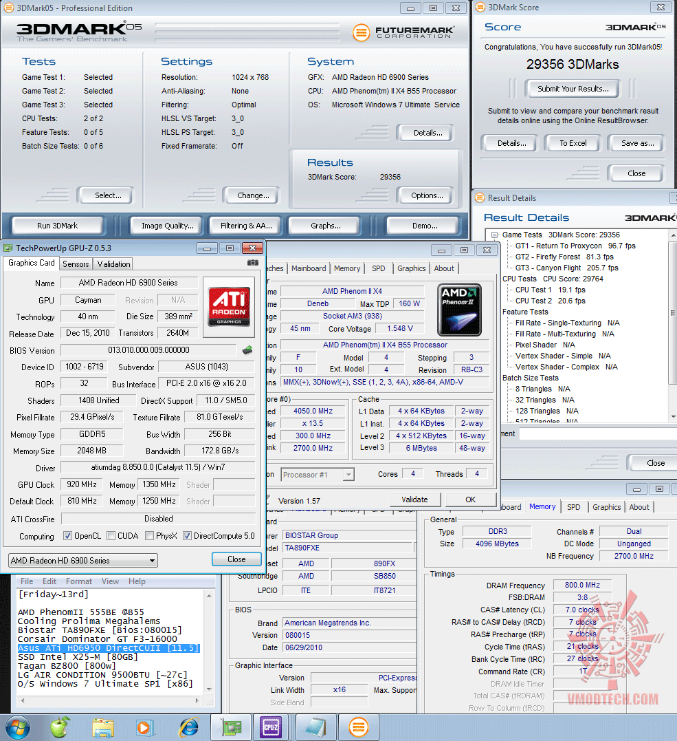 920 1350 3d2k5 29356 Asus ATi HD6950 DirectCUII 2GB/GDDR5 : Review