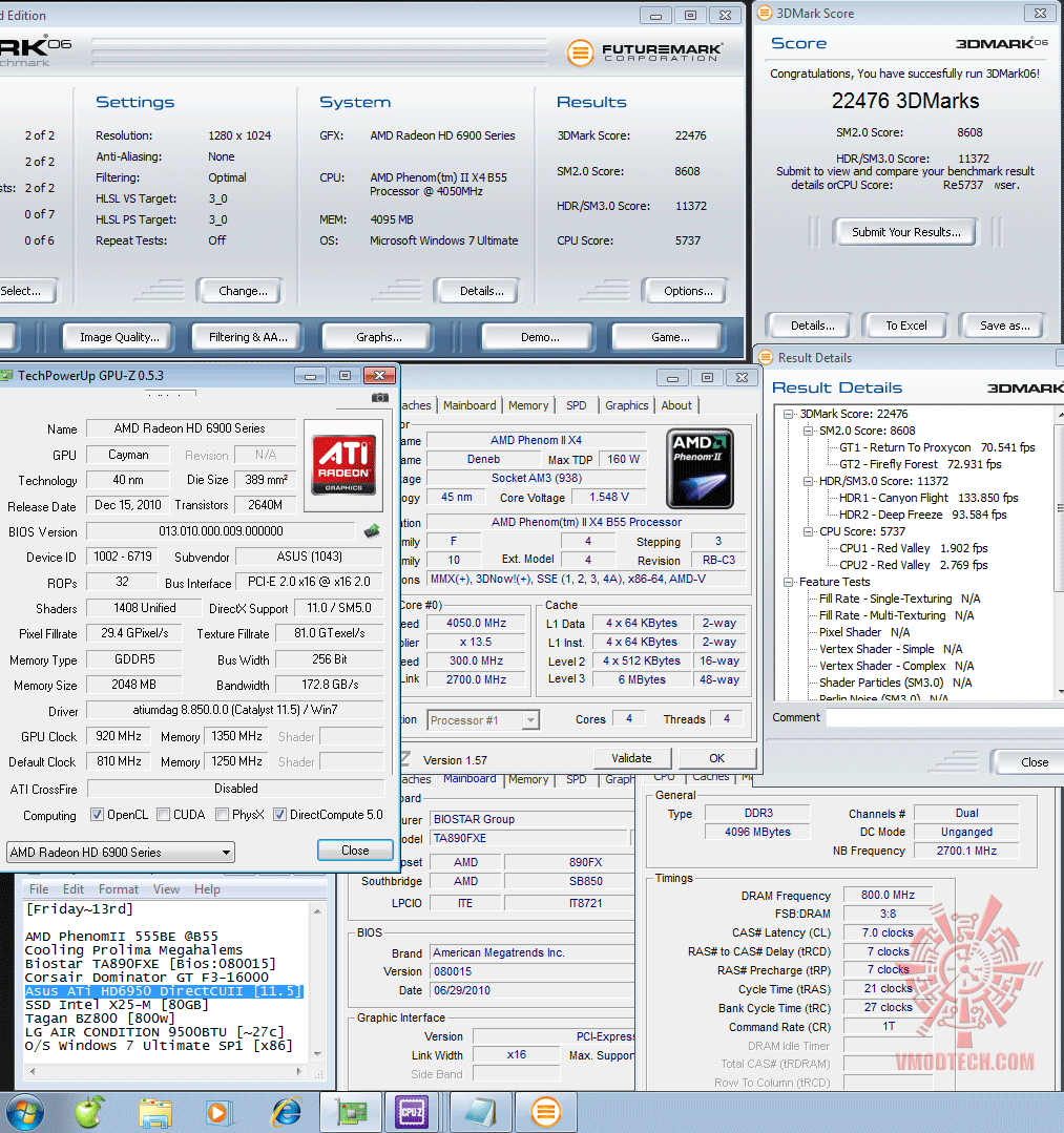 920 1350 3d2k6 22476 Asus ATi HD6950 DirectCUII 2GB/GDDR5 : Review