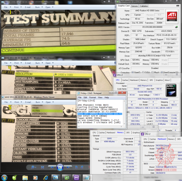 920 1350 dx11 dirt2 745 720x714 Asus ATi HD6950 DirectCUII 2GB/GDDR5 : Review
