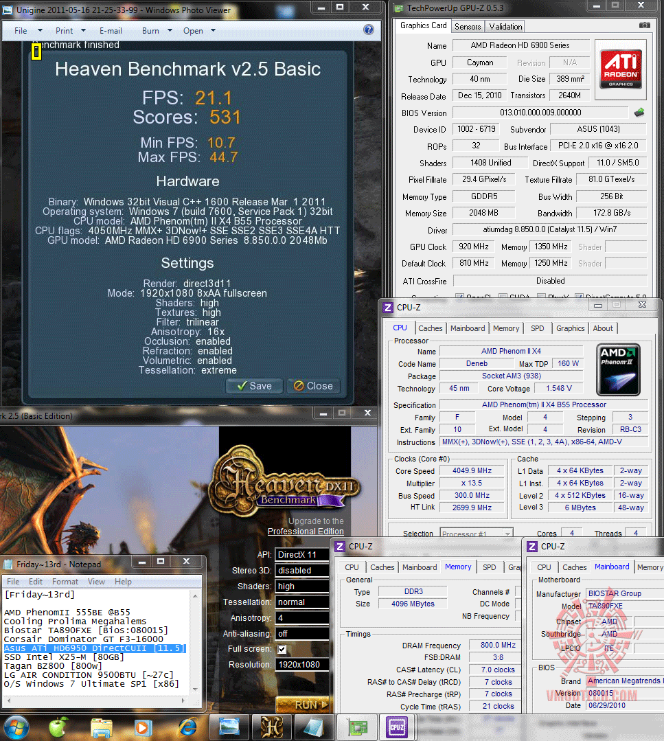 920 1350 dx11 heaven25 211 Asus ATi HD6950 DirectCUII 2GB/GDDR5 : Review