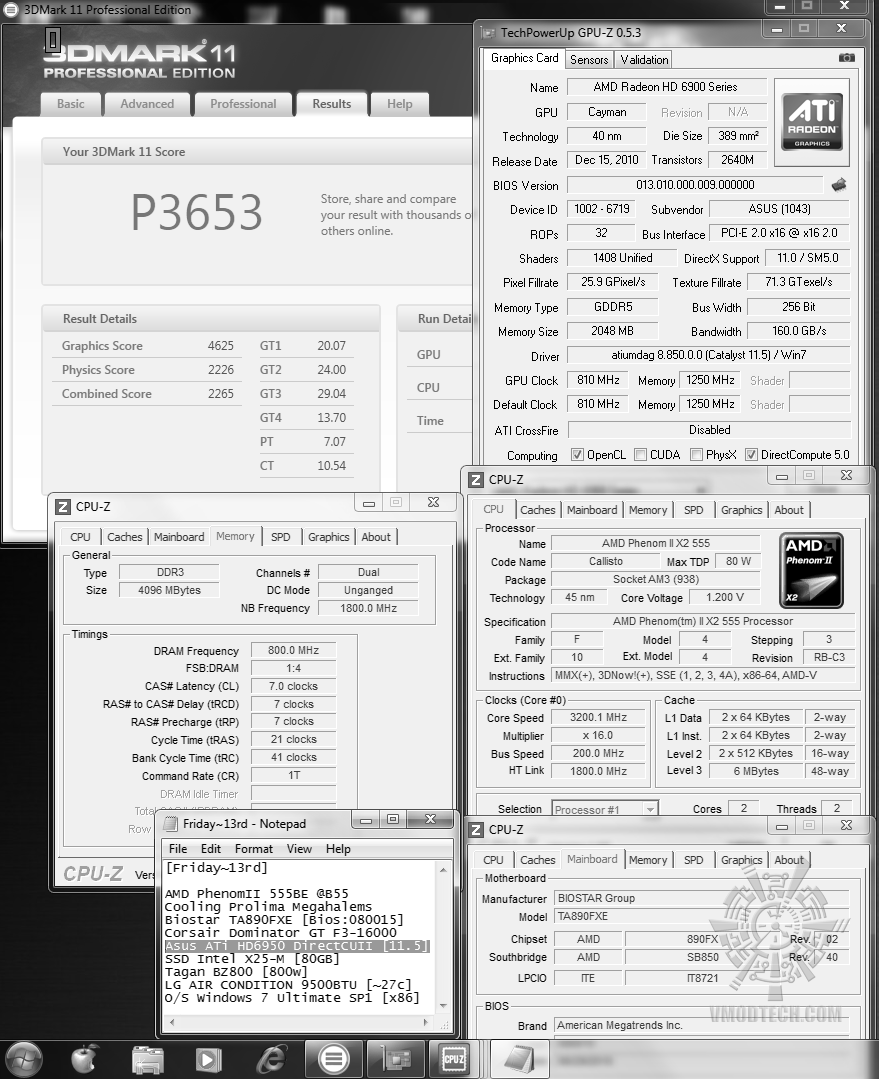 default 3d2k11 p3653 Asus ATi HD6950 DirectCUII 2GB/GDDR5 : Review