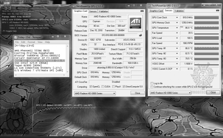 default tempfanauto 46c 86c 720x445 Asus ATi HD6950 DirectCUII 2GB/GDDR5 : Review