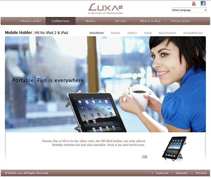 5 24 2011 9 38 40 pm LUXA2 H4 & H6 iPad Stand