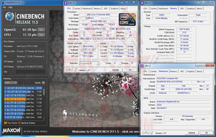 c11 720x458 Intel Core i7 990X Extreme Edition & ASUS Rampage III Black Edition Review
