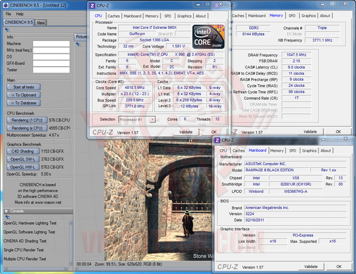 c95 Intel Core i7 990X Extreme Edition & ASUS Rampage III Black Edition Review