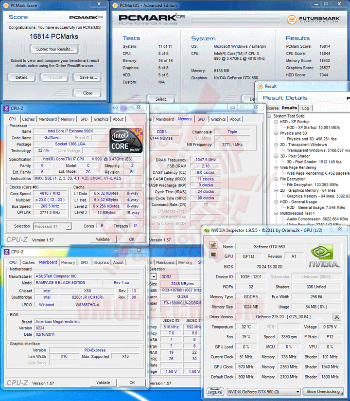 pcm05 Intel Core i7 990X Extreme Edition & ASUS Rampage III Black Edition Review