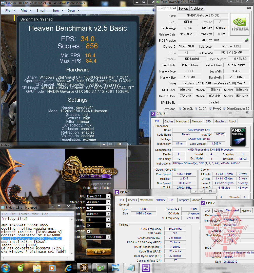 930 1125 1138v dx11 heaven25 34 Inno3D GeForce GTX580 : Review