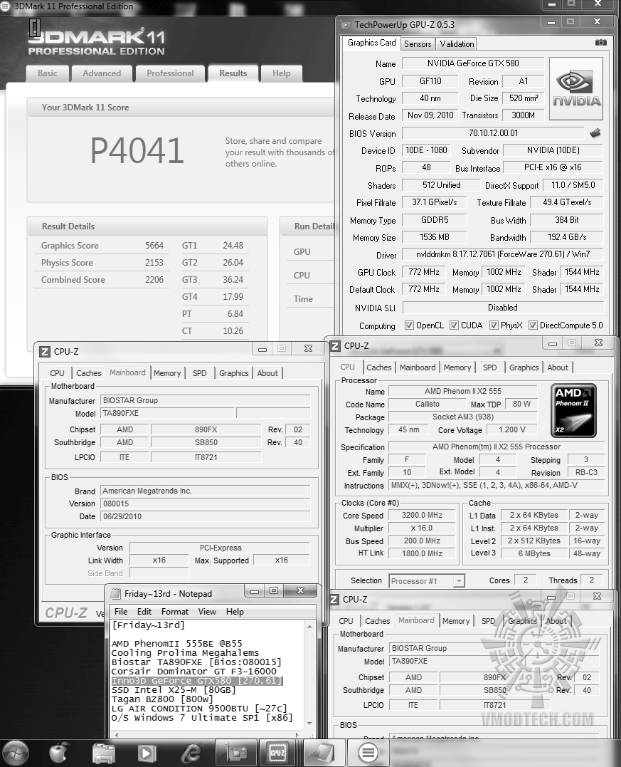 default 3d2k11 p4041 Inno3D GeForce GTX580 : Review