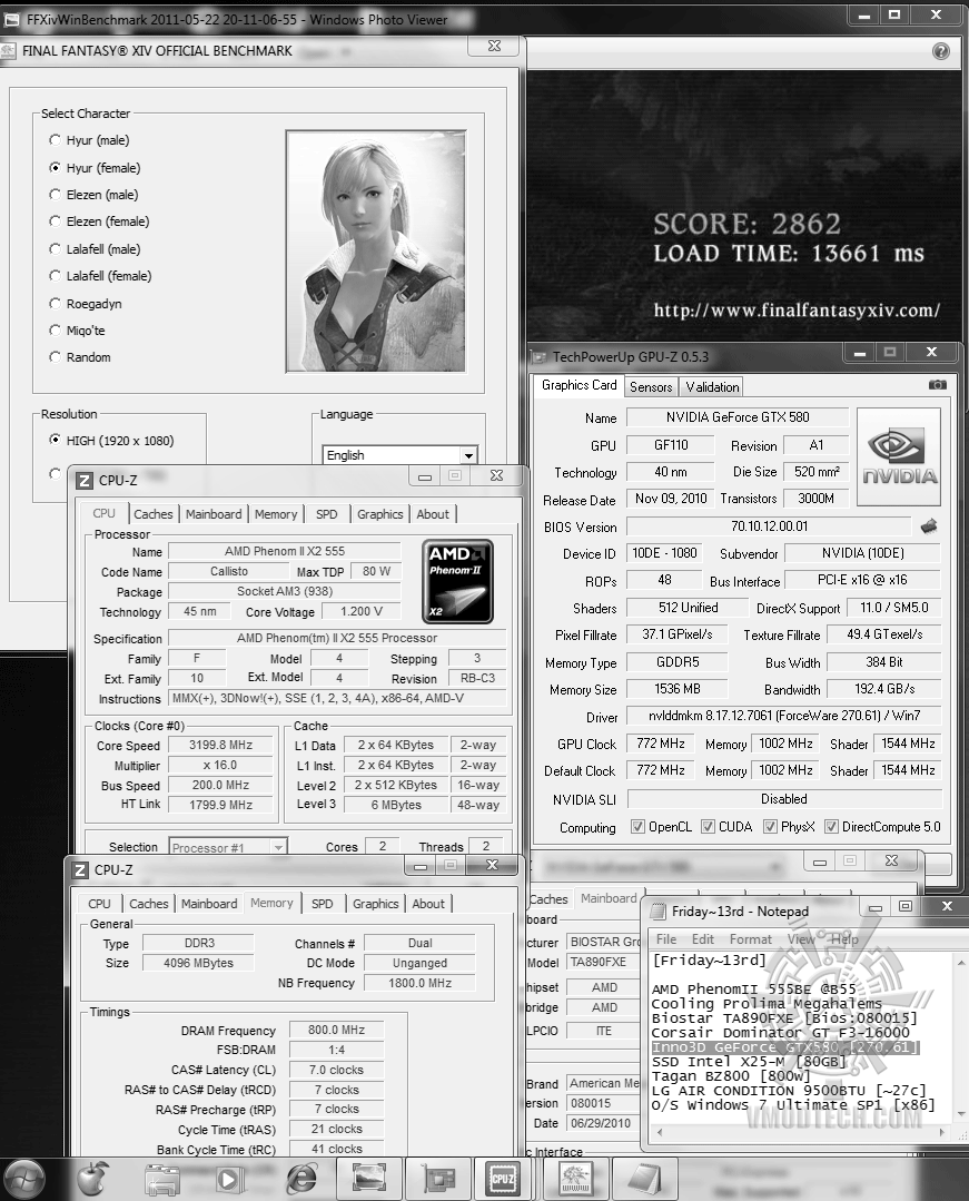 default dx9 ffxiv 2862 Inno3D GeForce GTX580 : Review