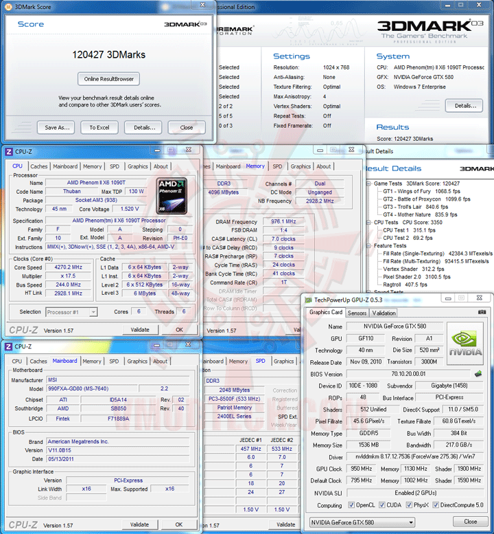 03 msi 990FXA GD80 AMD 990FX Motherboard Overclock Results