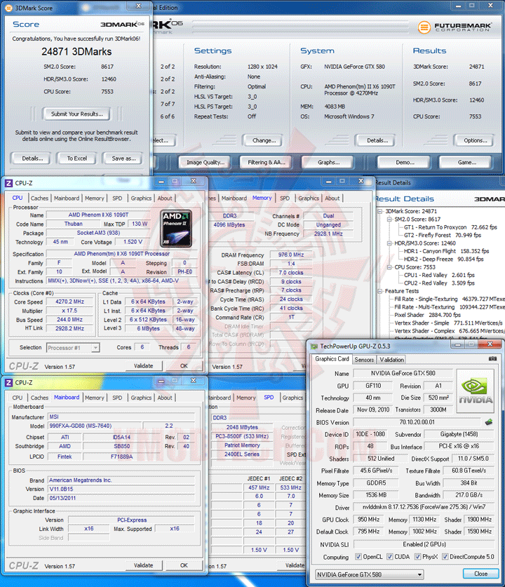06 msi 990FXA GD80 AMD 990FX Motherboard Overclock Results