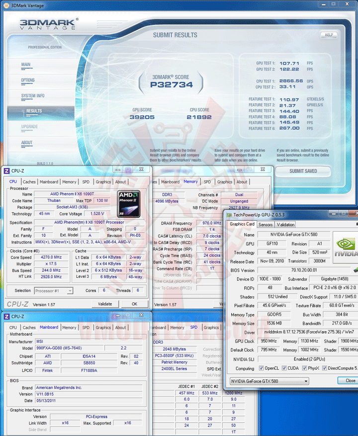 07 msi 990FXA GD80 AMD 990FX Motherboard Overclock Results