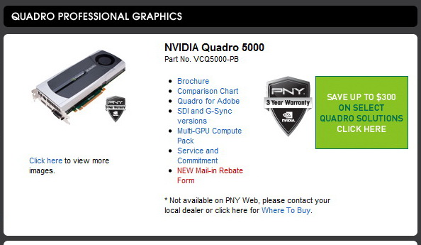 1 PNY Quadro 5000 2.5GB GDDR5 Review
