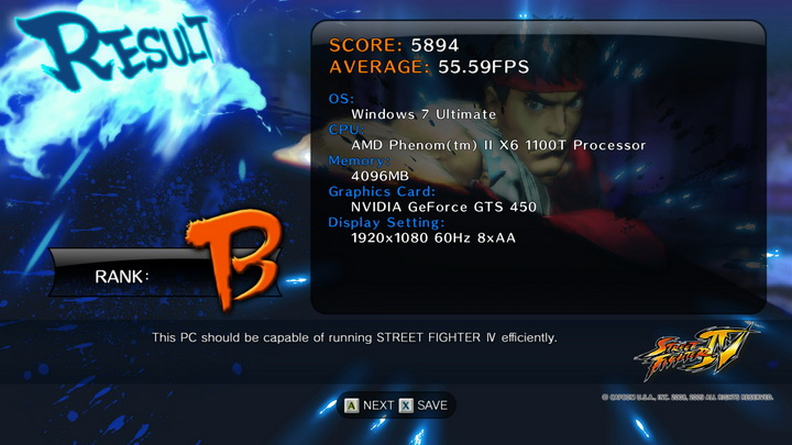 streetfighteriv benchmark 2011 06 12 22 06 40 03 PaLiT Geforce GTS 450 1GB GDDR3 Review