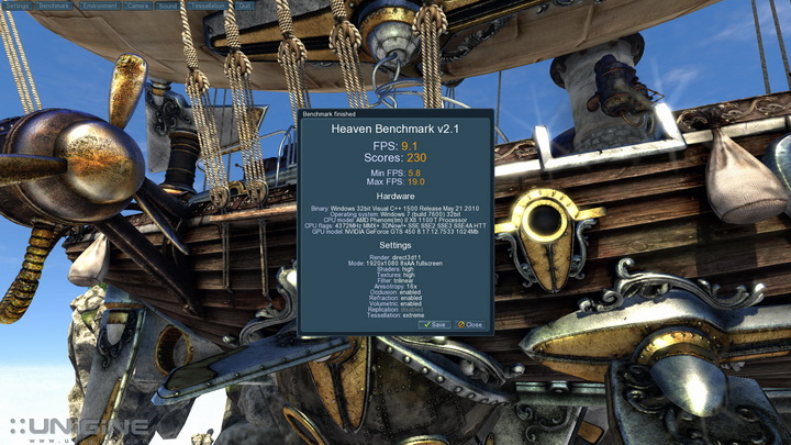 unigine 2011 06 07 23 00 51 83 PaLiT Geforce GTS 450 1GB GDDR3 Review