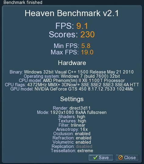 unigine 2011 06 07 23 00 58 85 PaLiT Geforce GTS 450 1GB GDDR3 Review