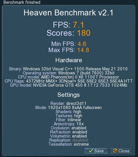 unigine 2011 06 12 22 00 02 21 PaLiT Geforce GTS 450 1GB GDDR3 Review