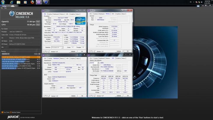 cinebenchr11 720x405 ASUS P8Z68 V PRO Motherboard