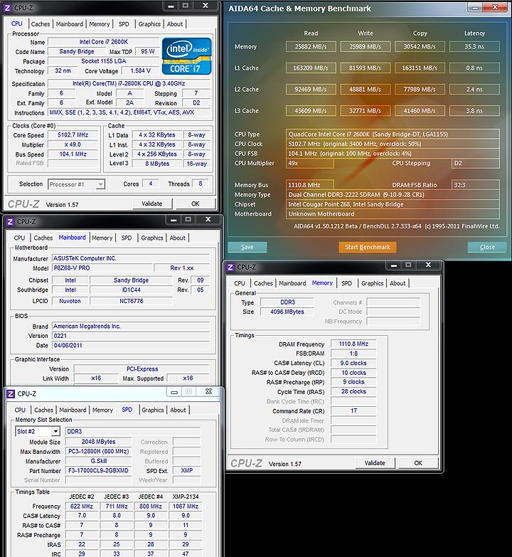 mem ASUS P8Z68 V PRO Motherboard