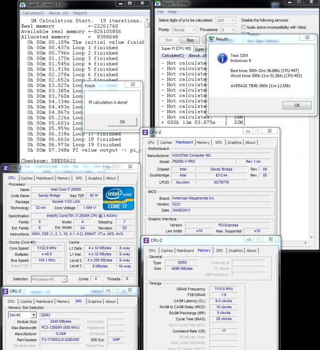 superpi 659x720 ASUS P8Z68 V PRO Motherboard
