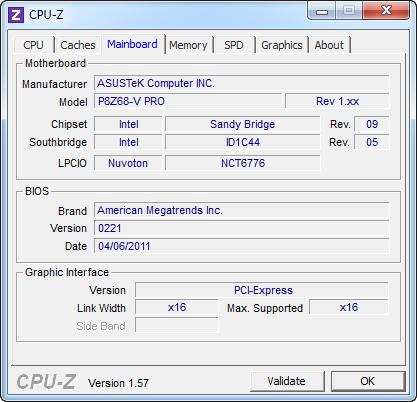 cpuz2 ASUS P8Z68 V PRO Motherboard