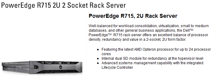 s1 Dell PowerEdge R715 2U 2 Socket Rack Server with Opteron 6134 OctalCore X2 Review (แคะสนิมจากคน review)
