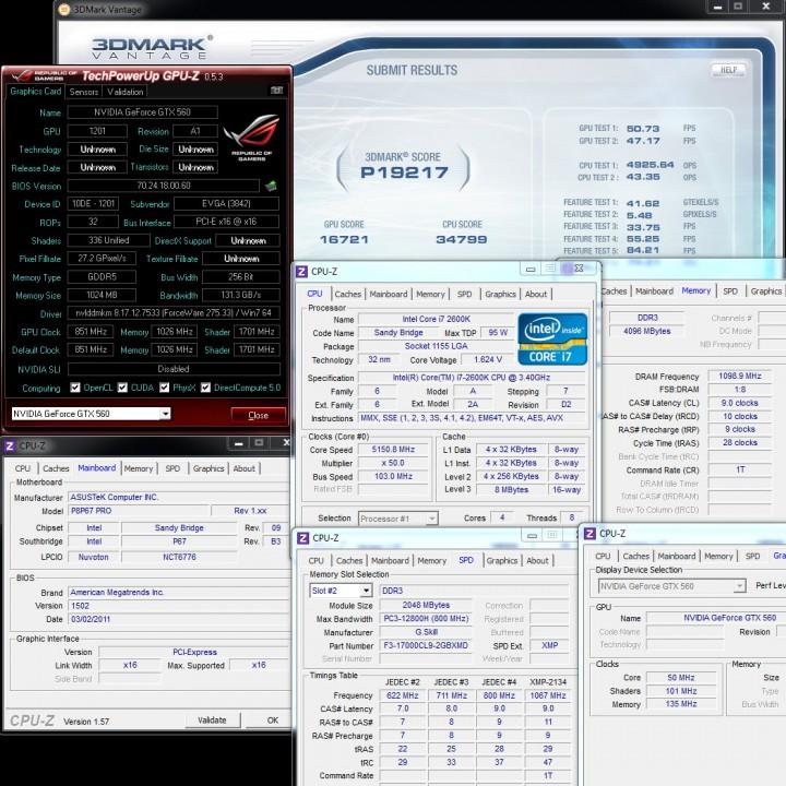 vantage 720x720 EVGA GeForce GTX560 Superclocked