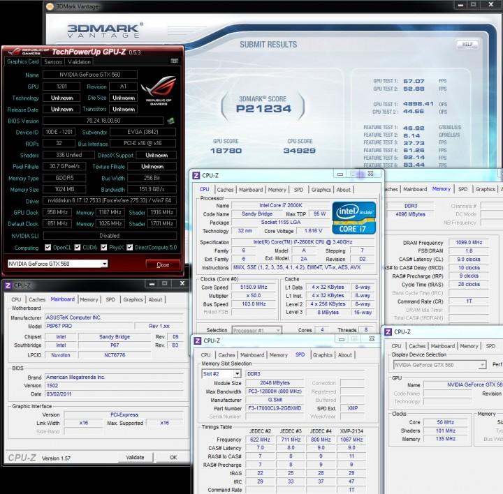 vantage1 720x708 EVGA GeForce GTX560 Superclocked