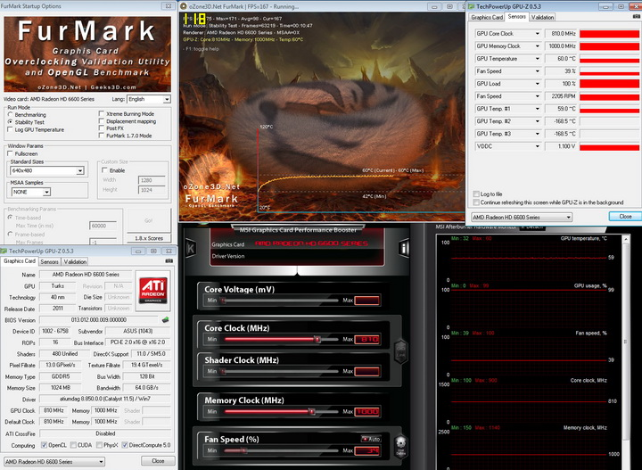 furmark ASUS Radeon HD 6670 1GB GDDR5 Review
