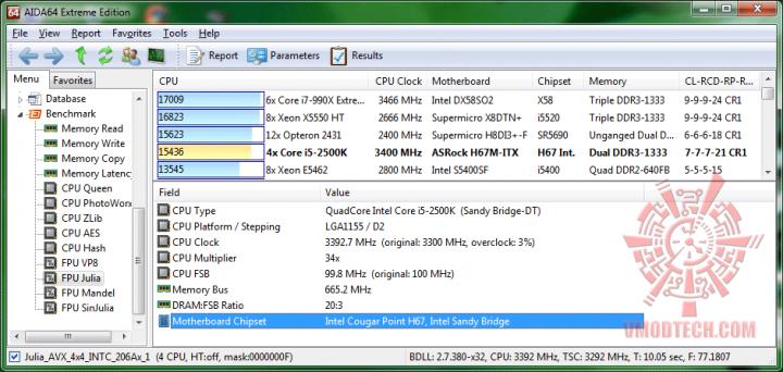 aida64 fpujulia 720x342 ASRock H67M ITX : Review