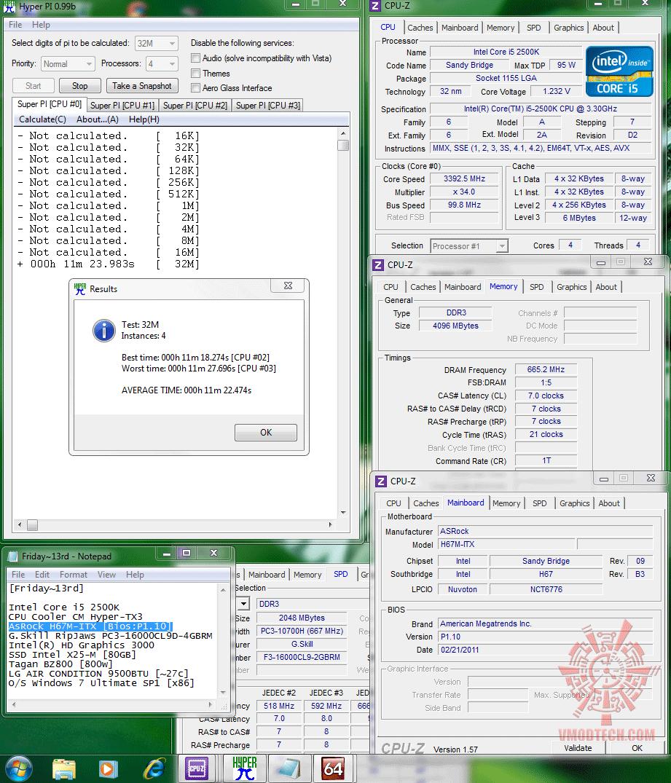hyperpi32m4cores 1122s ASRock H67M ITX : Review