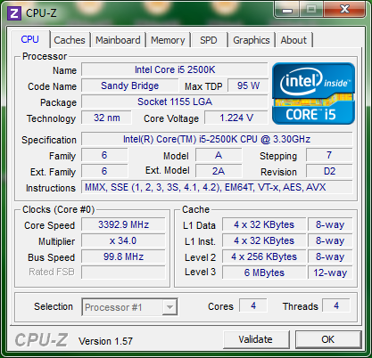 info cpuz cpu ASRock H67M ITX : Review