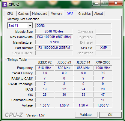 info cpuz spd ASRock H67M ITX : Review