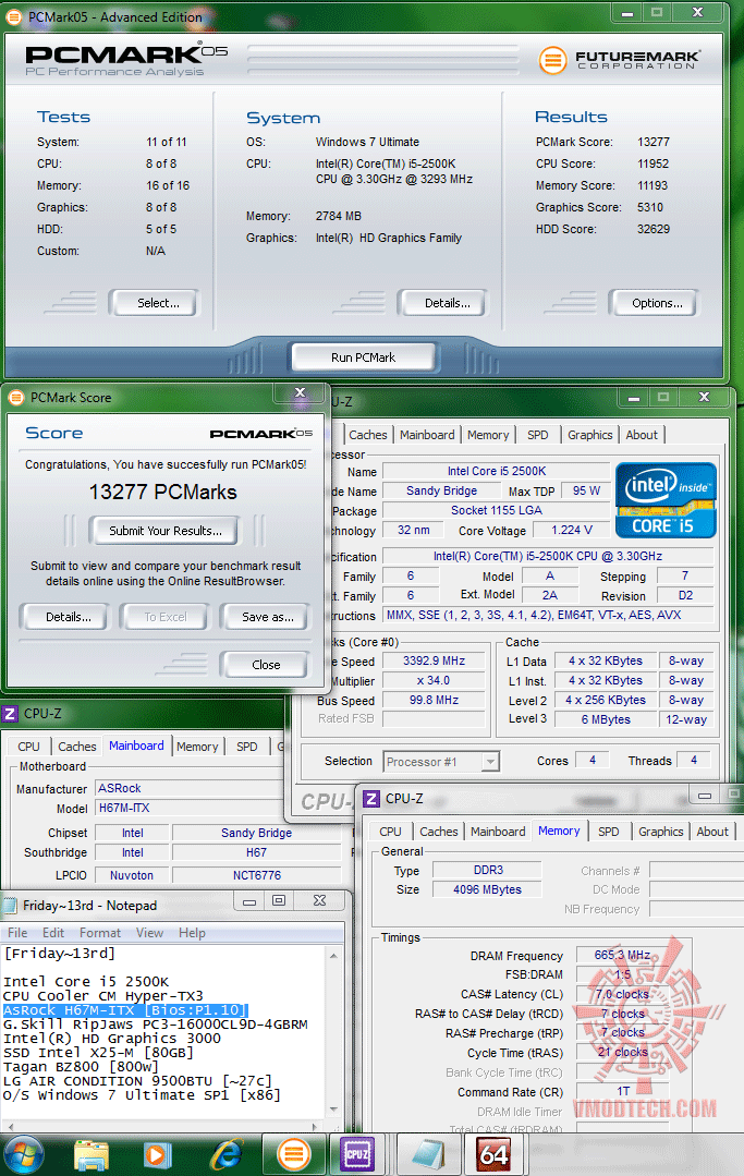 pcmark05 13277 ASRock H67M ITX : Review