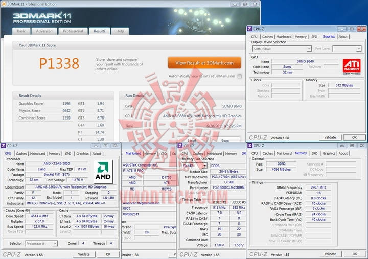 11 4514 AMD Liano A8 3850APU on ASUS F1A75 M PRO Review