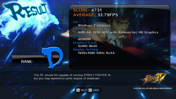 streetfighteriv benchmark 2011 06 28 21 47 50 47 AMD Liano A8 3850APU on ASUS F1A75 M PRO Review