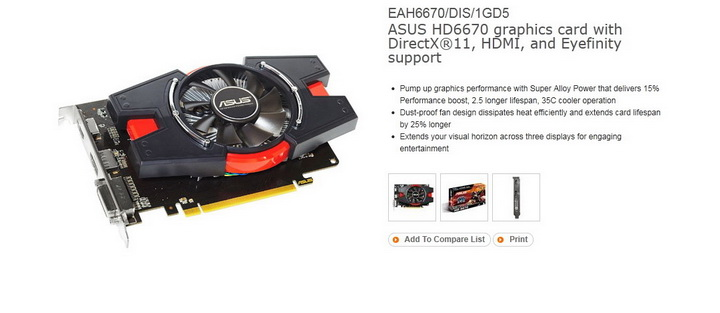 1 ASUS Radeon HD 6670 1GB GDDR5 Review