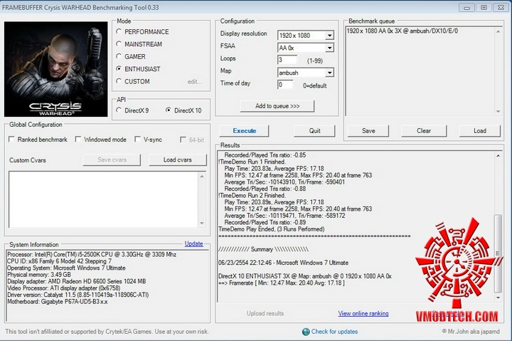 crysis 950 ASUS Radeon HD 6670 1GB GDDR5 Review