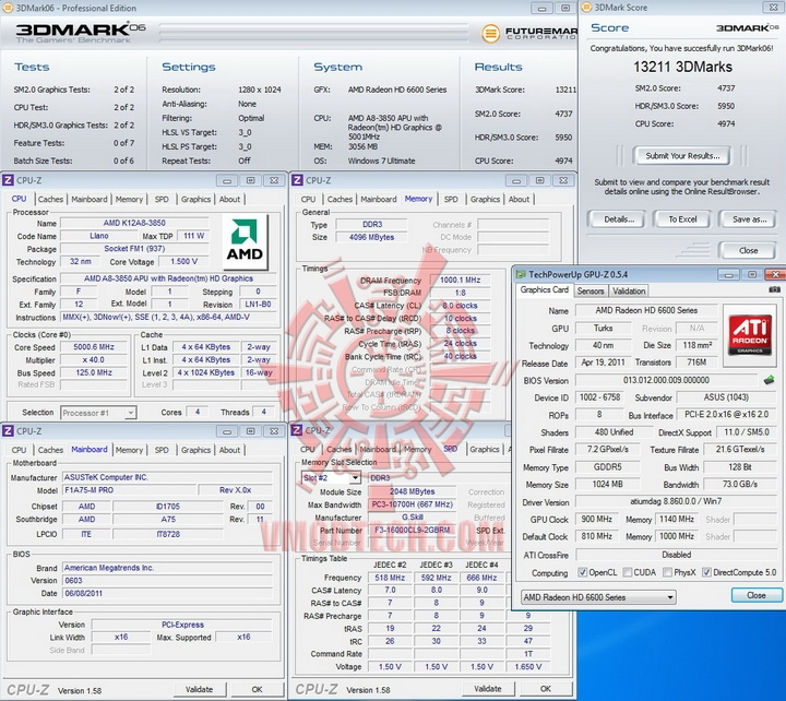 06 50 AMD Liano A8 3850APU on ASUS F1A75 M PRO Review