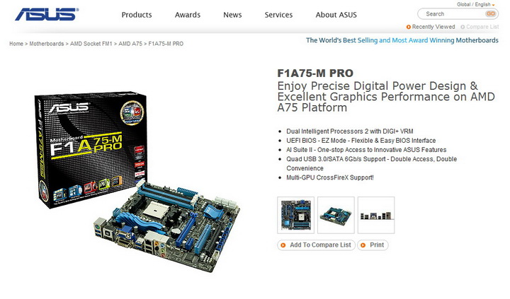 7 AMD Liano A8 3850APU on ASUS F1A75 M PRO Review