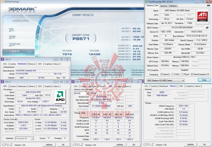vantage 500 AMD Liano A8 3850APU on ASUS F1A75 M PRO Review