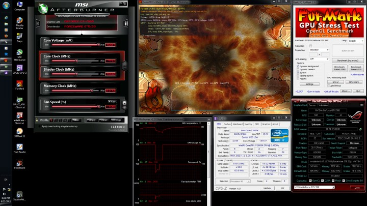 furmark 720x405 GALAXY GeForce GTX560 GC Version