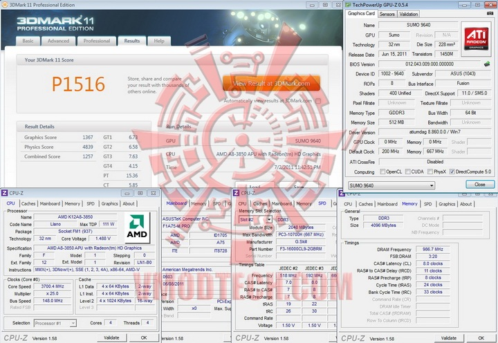 11 AMD Liano A8 3850 APU Real Performance Tests Review