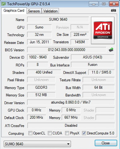 gpuz AMD Liano A8 3850 APU Real Performance Tests Review