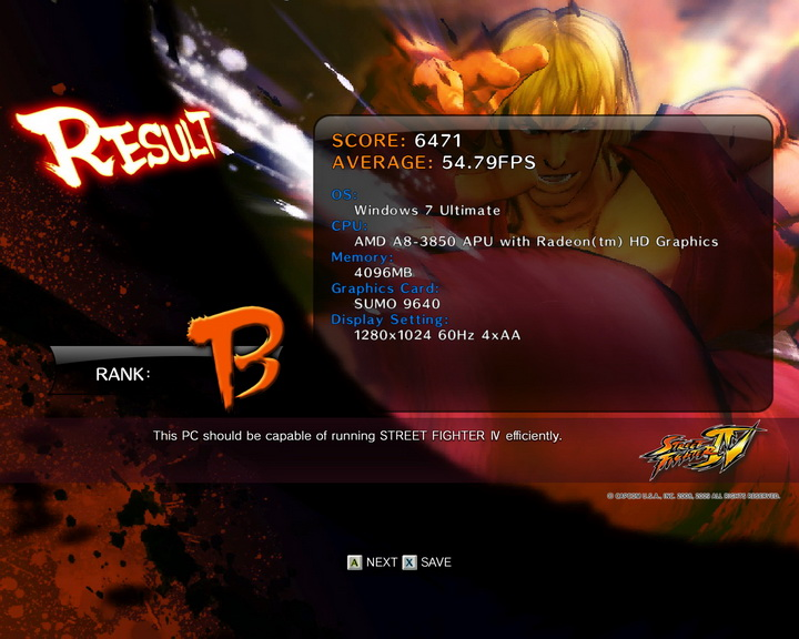 streetfighteriv benchmark 2011 07 03 22 01 22 88 AMD Liano A8 3850 APU Real Performance Tests Review
