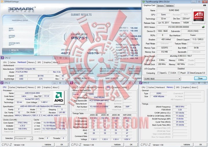vantage AMD Liano A8 3850 APU Real Performance Tests Review