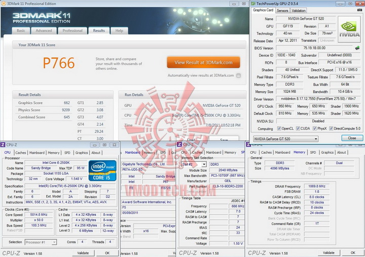 11 950 PaLiT Geforce GT 520 1024MB DDR3 Review