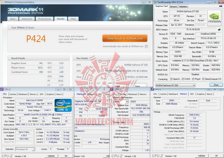 11 PaLiT Geforce GT 520 1024MB DDR3 Review